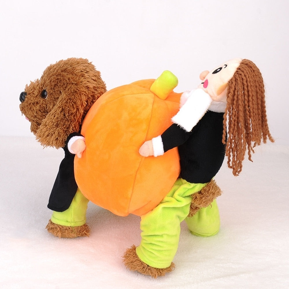[Halloween Treats] Dog Fashion Pumpkin Costume - AHADAY- Online Shopping With Great Deals