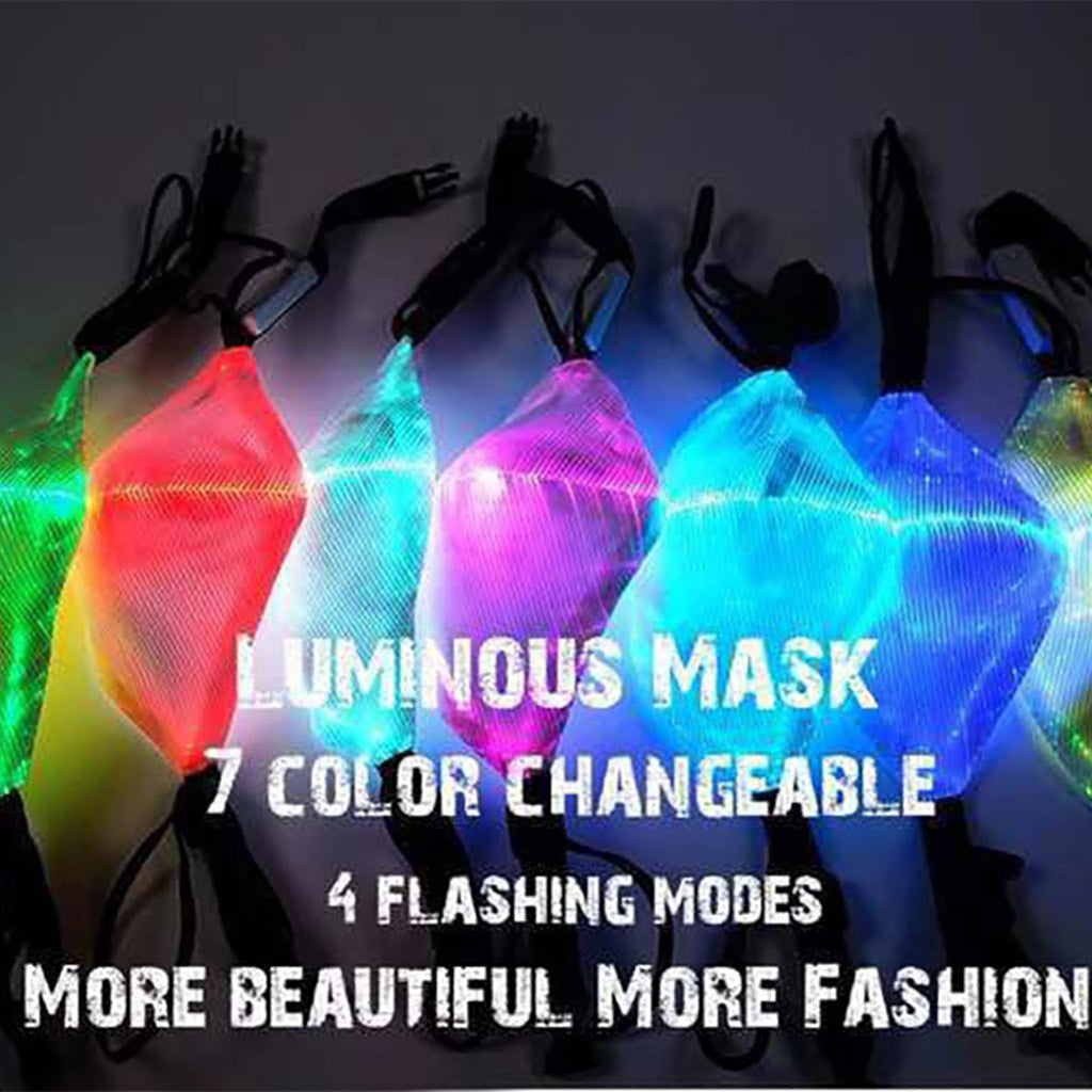 [Halloween Treats] Flashing Mask 7 Colors Luminous Light