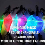 [Halloween Treats] Flashing Mask 7 Colors Luminous Light - AHADAY- Online Shopping With Great Deals