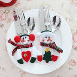 [Aha Xmas] Snowman Cutlery Holders - AHADAY- Online Shopping With Great Deals