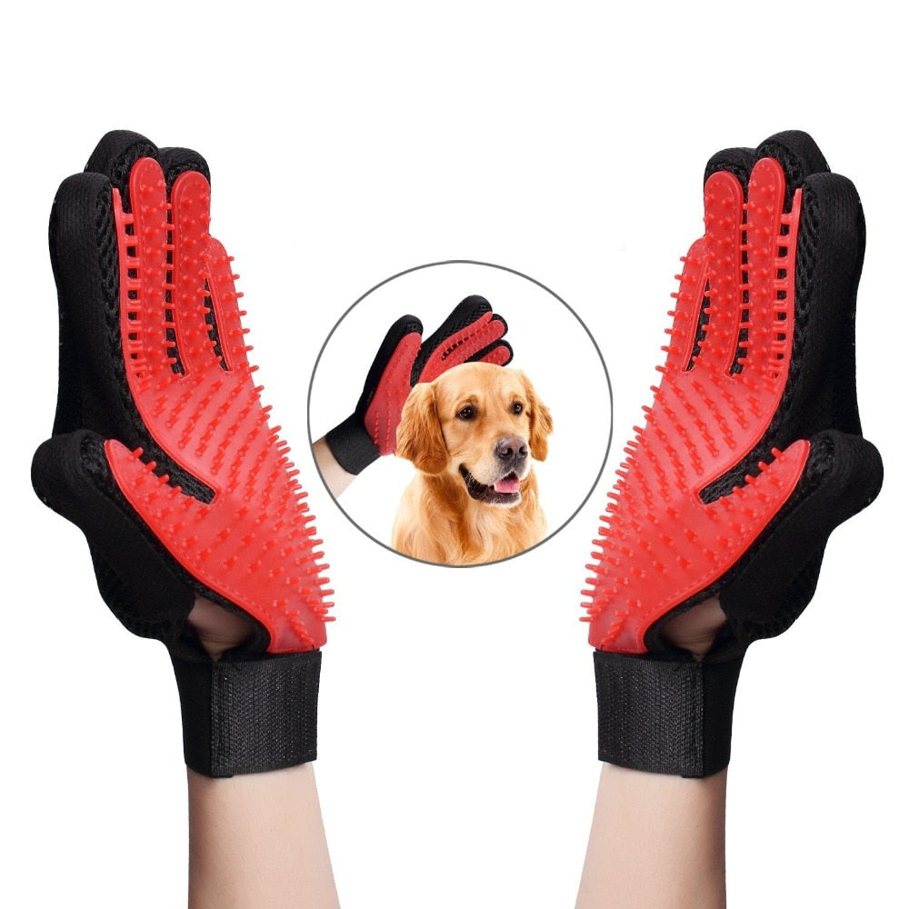 Cat Pet Dog fur Grooming Gloves - AHADAY- Online Shopping With Great Deals