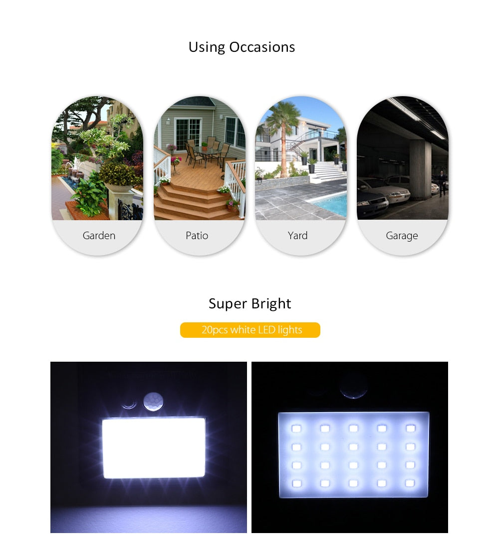 Solarek™ - LED Solar Waterproof Wall Light - AHADAY- Online Shopping With Great Deals