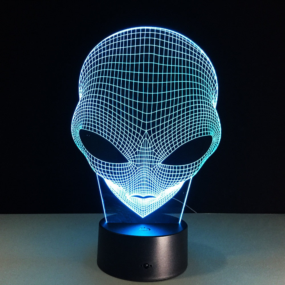 [Halloween Treats] Alien 3D LED Light - AHADAY- Online Shopping With Great Deals