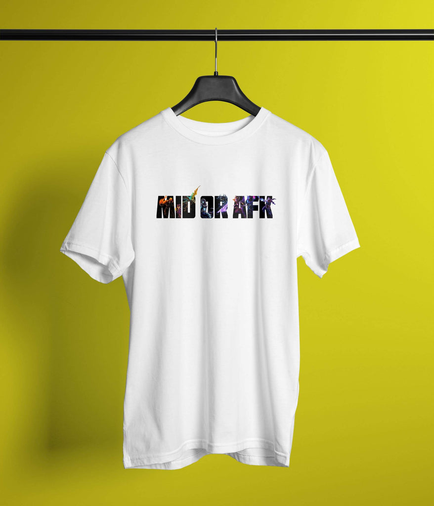 Mid or AFK T-Shirt - Feedermarket