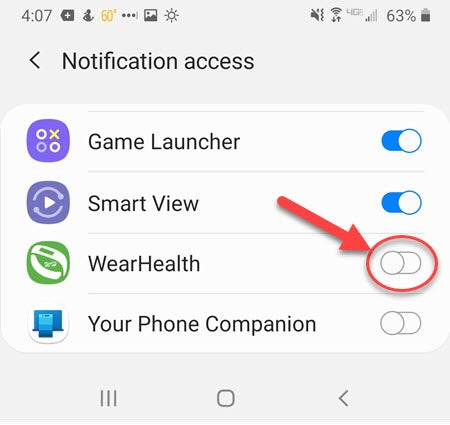 Enable WearHealth Notifications