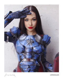 "Jillea - ""Captain America"" cosplay signed photo"