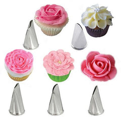 5Pcs/Set Stainless Steel Rose Petal Icing Nozzles