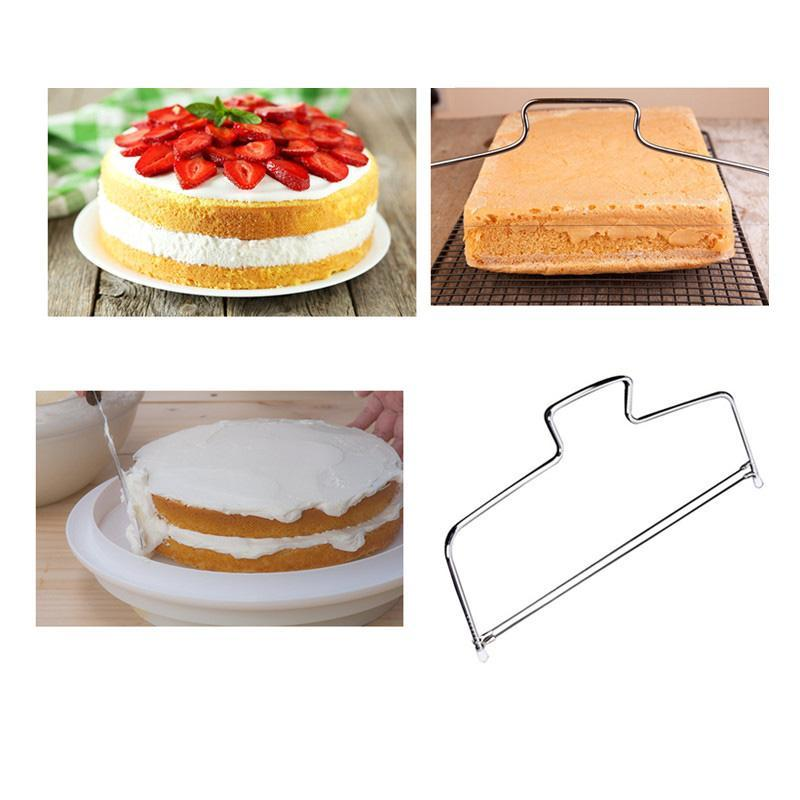 Stainless Steel Double Wires Cake Cutter/Slicer/Leveler