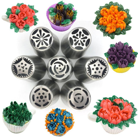 7Pc Large Size Icing Nozzles