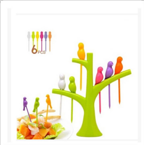 Bird Shaped Fruit/Snack/Dessert Forks
