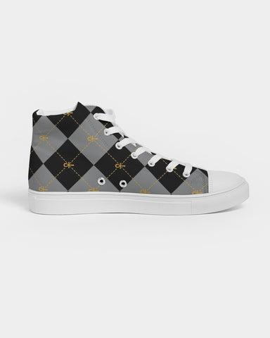 Black Ankhgyle™  Men's Hightop Canvas Shoe