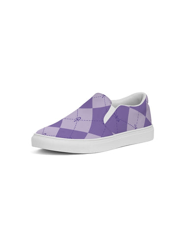 Purple Ankhgyle™ Pattern Women's Slip-On Canvas Shoe