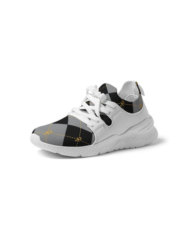 Black Ankhgyle™ Pattern Women's Two-Tone Sneaker
