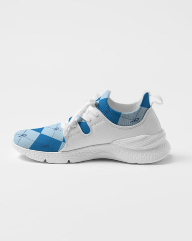 Blue Anhkgyle™ Pattern Women's Two-Tone Sneaker