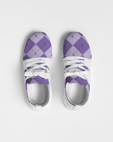 Purple Ankhgyle™ Pattern Women's Two-Tone Sneaker