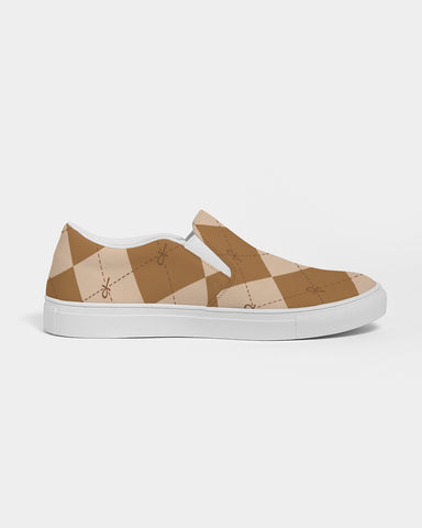 Brown Ankhgyle™ Pattern Women's Slip-On Canvas Shoe