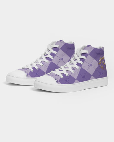 Nasirah Sahar Collection Purple Ankhgyle™ Women's Hightop Canvas Shoe