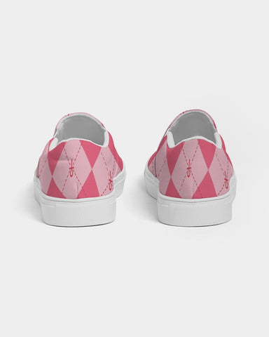 Pink Ankhgyle™ Pattern Women's Slip-On Canvas Shoe