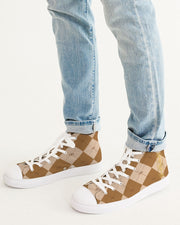 Brown Ankhgyle™ Pattern Men's Hightop Canvas Shoe