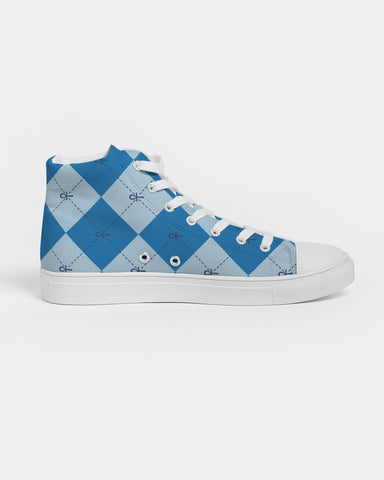 Nasirah Sahar Collection Blue Ankhgyle™ Women's Hightop Canvas Shoe