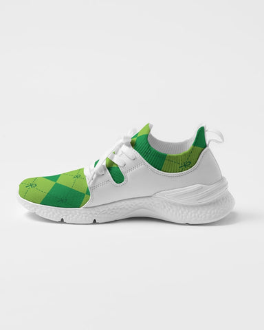 Green Ankhgyle™ Pattern Women's Two-Tone Sneaker