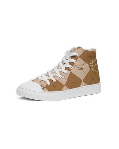 Nasirah Sahar Collection Brown Ankhgyle™ Women's Hightop Canvas Shoe