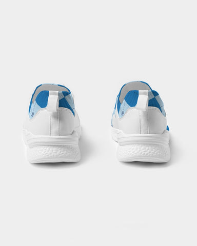 Blue Anhkgyle™ Pattern Men's Two-Tone Sneaker