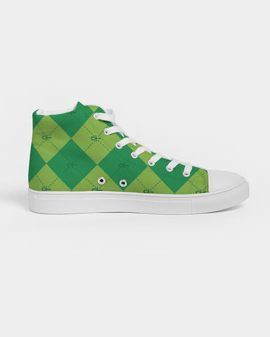 Nasirah Sahar Collection Green Ankhgyle™ Women's Hightop Canvas Shoe