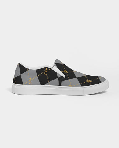 Black Ankhgyle™  Women's Slip-On Canvas Shoe