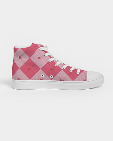 Nasirah Sahar Collection Pink Ankhgyle™ Women's Hightop Canvas Shoe