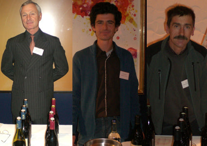 Left to right - Rene Rostaing-Domaine Rene Rostaing - Laurent Martin-Domaine Alain Voge - Eric Michel-Domaine Cros de la Mure