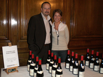 Jean-Marie and Vicki Fourrier showed their Gevrey Chambertin 1er Cru Clos St Jacques
