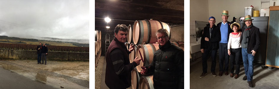 Clouds in Puligny, Tasting at Rouget, Jean-Philippe and Michelle Fichet