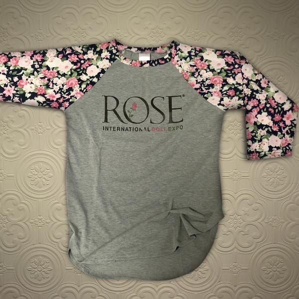 ROSE 2018 Floral Gray Shirt