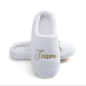 Bridesmaid Slippers Personalized Wedding Slippers Bride Slippers Bachelorette Party Favors Bridesmaids Gifts Honeymoon Bridal Shower Gift