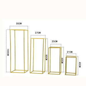 Gold  Floor Column Vases Wedding Centerpiece 10 pcs