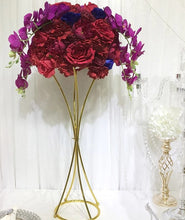 Load image into Gallery viewer, 10PCS Flower Gold Metal Flower Stand