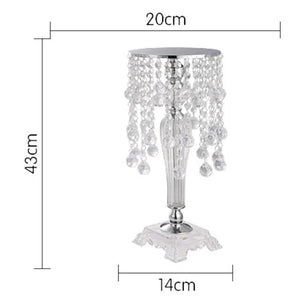 elegant crystal mirror flower candle holder