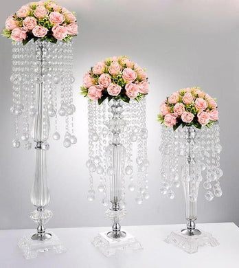 10 pieces Acrylic European style Wedding Centerpiece with Crystals