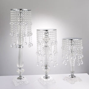 3 size flower candle stand