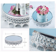 Load image into Gallery viewer, Silver Cake display stand with crystals