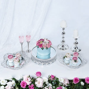 Silver Cake display stand with crystals