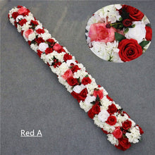 Load image into Gallery viewer, Artificial orchid flower runner for wedding decor party backdrop