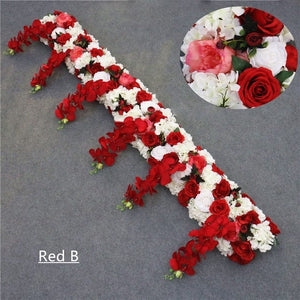 Artificial orchid flower runner for wedding decor party backdrop