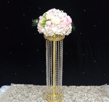 Load image into Gallery viewer, Roman Style Luxury Flower Pillar Gold Metal  Flower Stand for Wedding Party Event Decoration