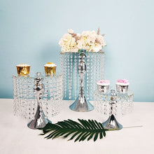 Load image into Gallery viewer, 5 PCS Silver/Gold cake stand with crystals