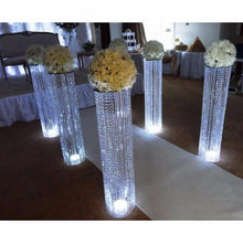 Load image into Gallery viewer, wedding planning event reception banquet crystal silver centerpiece