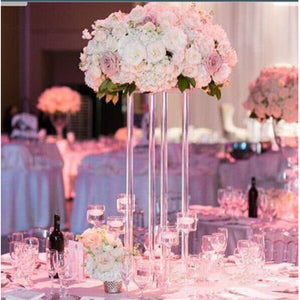 5PCS Acrylic Transparent Flower Stand Table Decoration wedding centerpiece for event/reception/banquet
