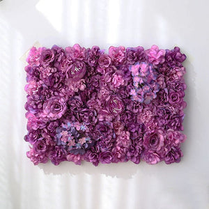 purple Wedding Flower Wall Panel For Party Birthday Decoration Artificial Rose Floral Wall Party Arrangement Wedding Photography Backdrop 40*60CM white flowers in usa in australia in uk