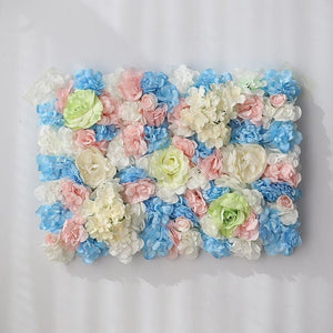 blue rose white Wedding Flower Wall Panel For Party Birthday Decoration Artificial Rose Floral Wall Party Arrangement Wedding Photography Backdrop 40*60CM white flowers in usa in australia in uk
